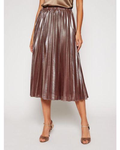 Brązowa spódnica plisowana Pennyblack