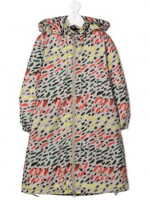 Прямое с рукавами классическое длинное пальто с капюшоном Wolf & Rita