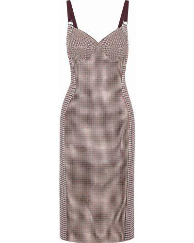 Бордовое платье на бретелях Stella Mccartney