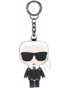 Брелок черный кожаный Karl Lagerfeld