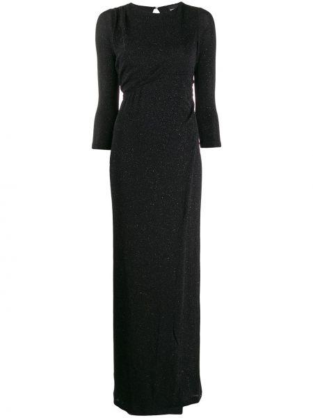 Платье с вырезом черное Just Cavalli