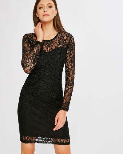 Платье мини с длинными рукавами льняное Silvian Heach
