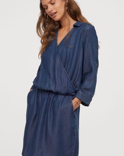 Синее джинсовое платье H&m