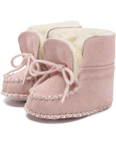 Розовые пинетки кожаные Polo Ralph Lauren