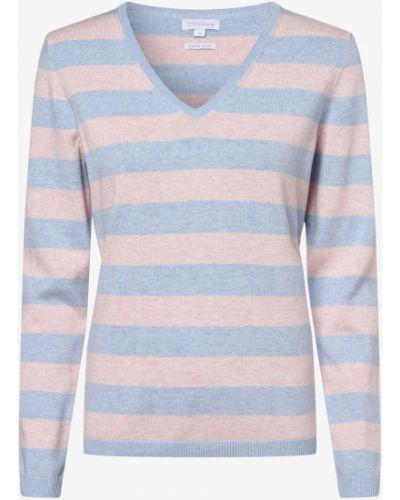 Niebieski sweter w paski na co dzień Brookshire