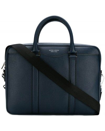 Синяя сумка для ноутбука Boss Hugo Boss