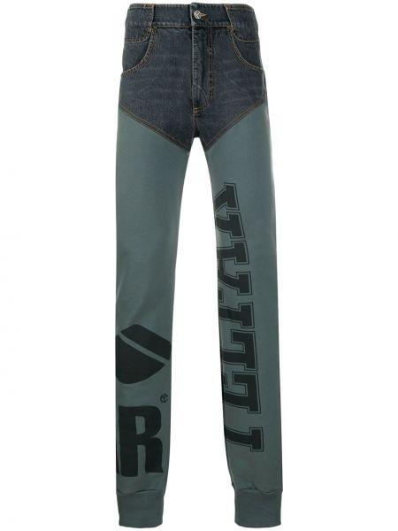 Черные брюки с накладными карманами с высокой посадкой с заплатками Telfar