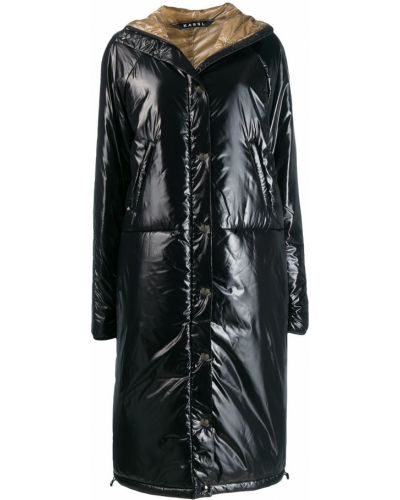 Черное длинное пальто Kassl
