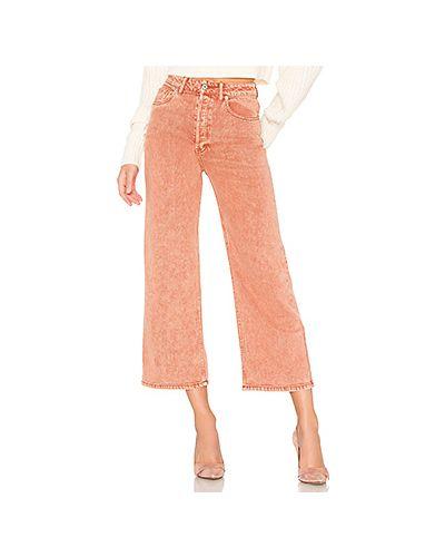 Широкие джинсы на пуговицах Free People