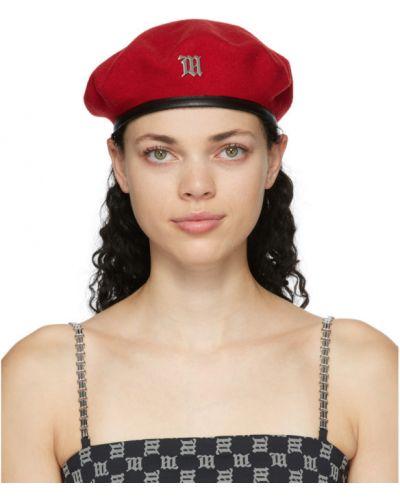 Wełniany czarny beret prążkowany Misbhv
