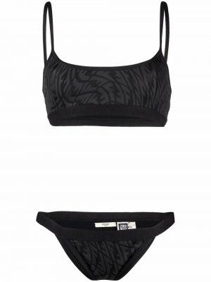 Czarny bikini Fendi