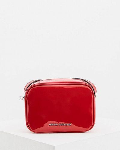 Сумка через плечо кожаный лаковая Armani Exchange
