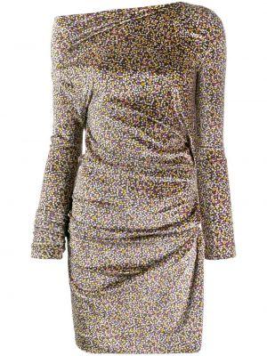 Зеленое приталенное платье с драпировкой с открытыми плечами Vivienne Westwood Anglomania