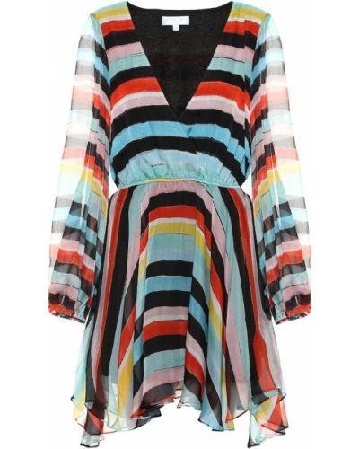 Платье макси шифоновое в полоску Caroline Constas