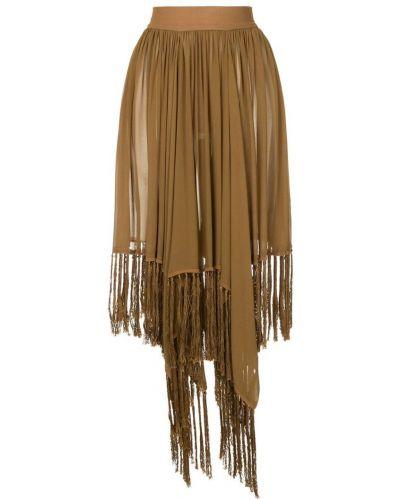 Приталенная расклешенная юбка Kitx