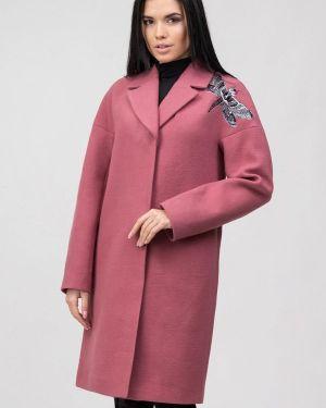 Розовое пальто с капюшоном Raslov