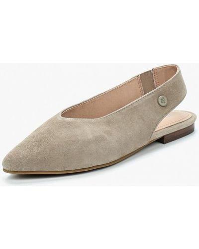 Бежевые замшевые туфли Marc O'polo