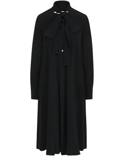 Платье миди на пуговицах с длинными рукавами Mcq