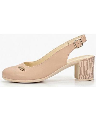 Туфли на каблуке с открытой пяткой кожаные Shoiberg