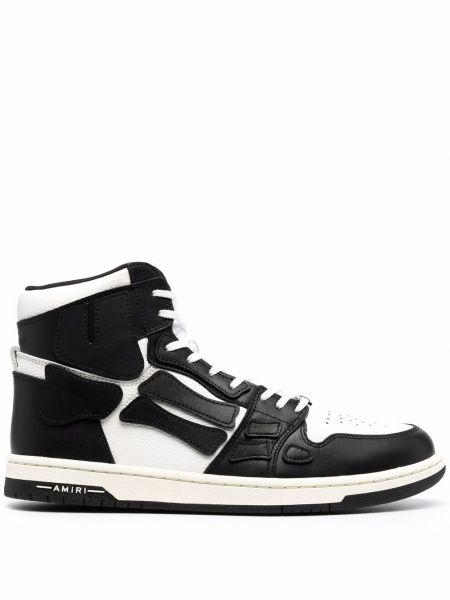 Белые кроссовки с перфорацией Amiri