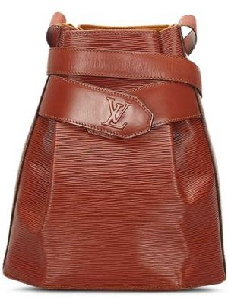 Кожаная сумка на плечо коричневый Louis Vuitton