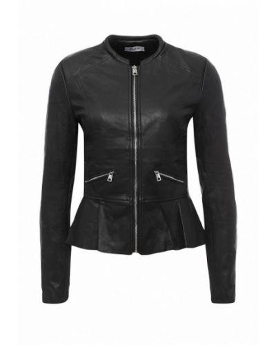 Кожаная куртка - черная Paccio
