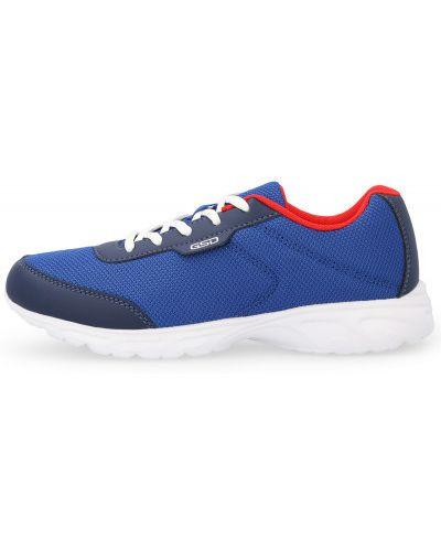 Синие кожаные кроссовки беговые для бега Gsd