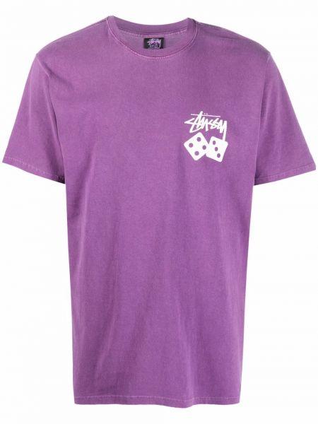 Лонгслив с принтом - фиолетовая Stussy