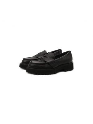 Черные кожаные туфли Attimonelli's