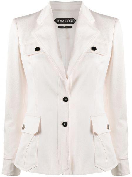 Однобортный приталенный пиджак с карманами Tom Ford