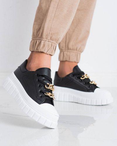 Czarne buty sportowe skorzane Shelovet