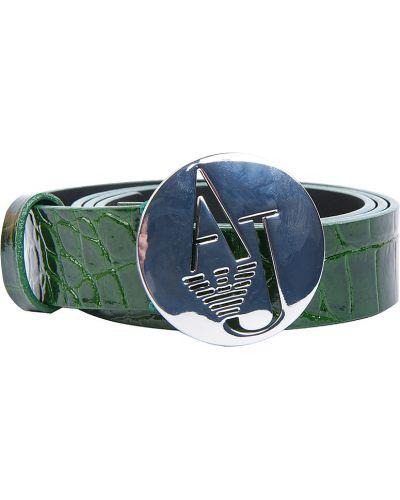 Ремень зеленый Armani Jeans
