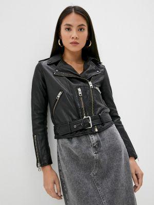 Черная кожаная куртка осенняя Allsaints