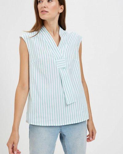 Блузка без рукавов бирюзовая весенний Emi