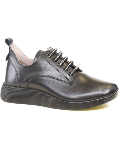 Кожаные кроссовки - черные Nod Trend