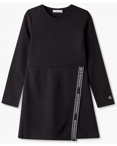 Повседневное черное джинсовое платье Calvin Klein Jeans