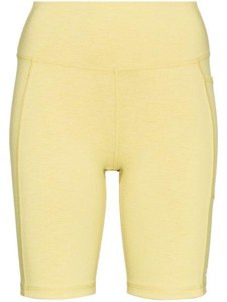 Żółte szorty z wysokim stanem Sweaty Betty