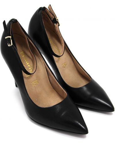 Черные кожаные туфли-лодочки с подкладкой Tamaris
