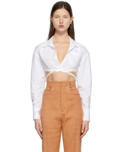 Открытая белая рубашка с длинными рукавами Jacquemus