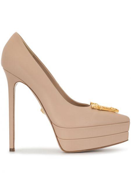Туфли на каблуке - розовые Versace