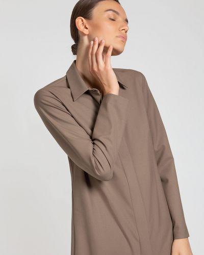 Платье миди платье-рубашка с поясом Vassa&co