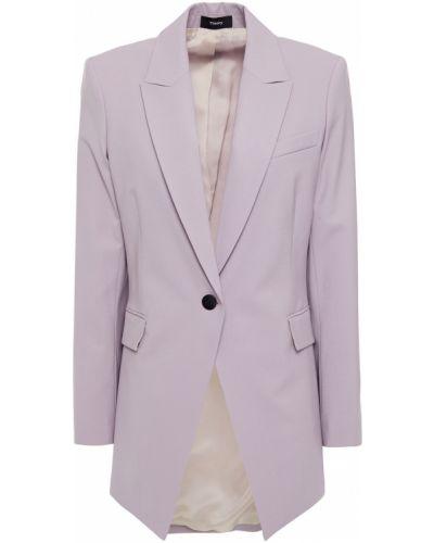 Фиолетовый шерстяной пиджак с карманами Theory