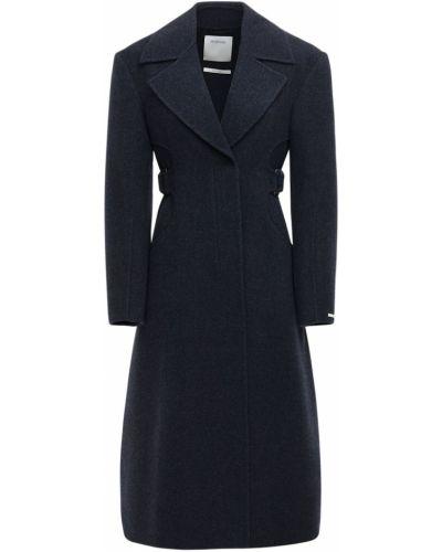 Шерстяное пальто с поясом на пуговицах с пряжкой Sportmax