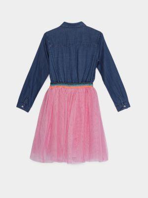Платье - синее Billieblush