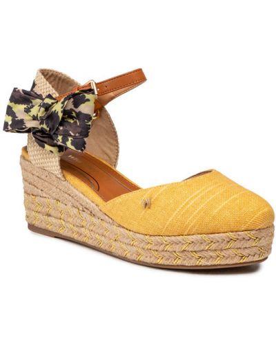 Sandały espadryle - żółte Wrangler
