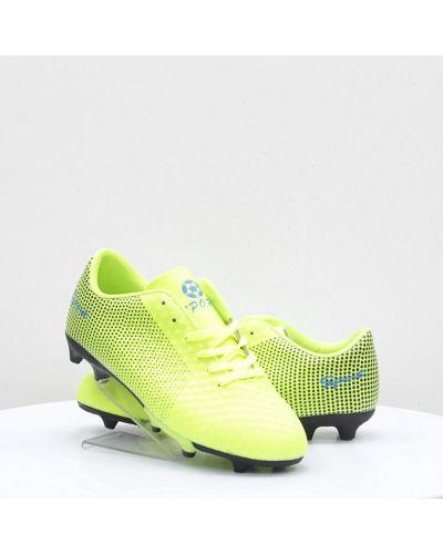 Зеленые кожаные кроссовки среднего размера Caroc