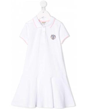 Klasyczna prążkowana sukienka mini krótki rękaw Kenzo Kids