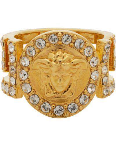 Pierścień złoto Versace