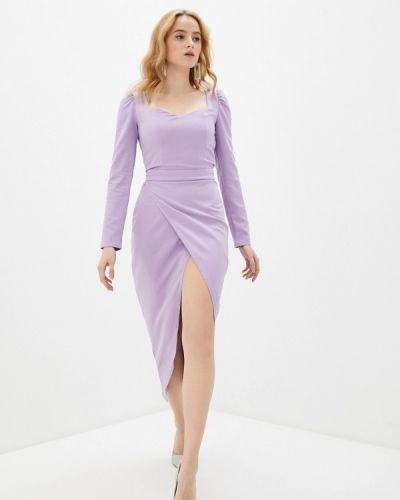 Брендовое фиолетовое платье-футляр Lipinskaya Brand