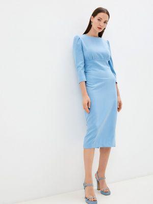 Платье футляр - голубое Trendyangel